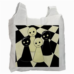 Chess Pieces Recycle Bag (two Side)  by Valentinaart