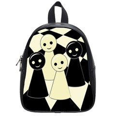 Chess Pieces School Bags (small)  by Valentinaart