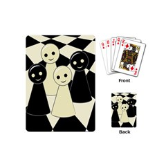 Chess Pieces Playing Cards (mini)  by Valentinaart