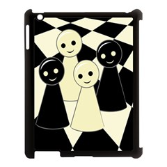 Chess Pieces Apple Ipad 3/4 Case (black) by Valentinaart