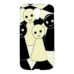 Chess Pieces Samsung Galaxy S4 I9500/i9505 Hardshell Case by Valentinaart