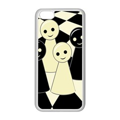 Chess Pieces Apple Iphone 5c Seamless Case (white) by Valentinaart
