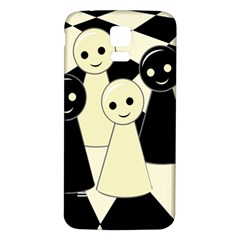 Chess Pieces Samsung Galaxy S5 Back Case (white) by Valentinaart