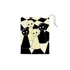 Chess Pieces Drawstring Pouches (xs)  by Valentinaart