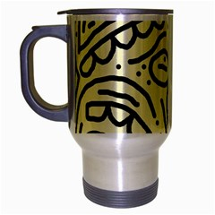 Artistic Abstraction Travel Mug (silver Gray) by Valentinaart