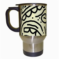Artistic Abstraction Travel Mugs (white) by Valentinaart