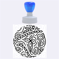 Artistic Abstraction Rubber Round Stamps (large) by Valentinaart