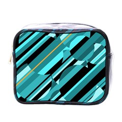Blue Abstraction Mini Toiletries Bags