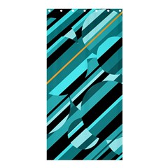 Blue Abstraction Shower Curtain 36  X 72  (stall)