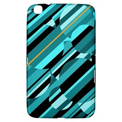 Blue Abstraction Samsung Galaxy Tab 3 (8 ) T3100 Hardshell Case  by Valentinaart