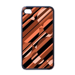 Orange Pattern Apple Iphone 4 Case (black) by Valentinaart