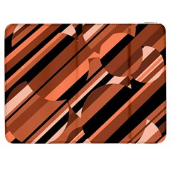 Orange Pattern Samsung Galaxy Tab 7  P1000 Flip Case by Valentinaart