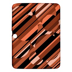 Orange Pattern Samsung Galaxy Tab 3 (10 1 ) P5200 Hardshell Case  by Valentinaart