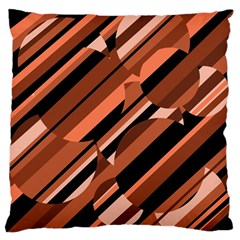 Orange Pattern Standard Flano Cushion Case (one Side) by Valentinaart