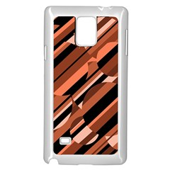 Orange Pattern Samsung Galaxy Note 4 Case (white) by Valentinaart