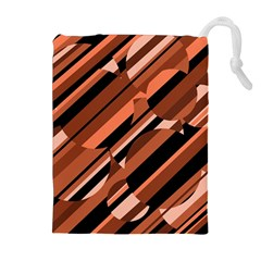 Orange Pattern Drawstring Pouches (extra Large)