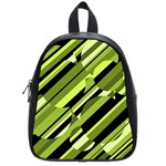 Green pattern School Bags (Small)  Front