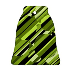 Green Pattern Bell Ornament (2 Sides) by Valentinaart