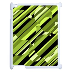 Green Pattern Apple Ipad 2 Case (white) by Valentinaart