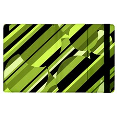 Green Pattern Apple Ipad 2 Flip Case by Valentinaart