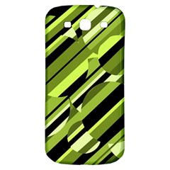Green Pattern Samsung Galaxy S3 S Iii Classic Hardshell Back Case by Valentinaart