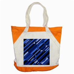 Blue Pattern Accent Tote Bag by Valentinaart