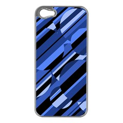 Blue Pattern Apple Iphone 5 Case (silver) by Valentinaart