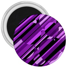 Purple Pattern 3  Magnets by Valentinaart