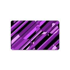 Purple Pattern Magnet (name Card) by Valentinaart