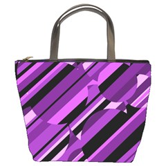 Purple Pattern Bucket Bags by Valentinaart