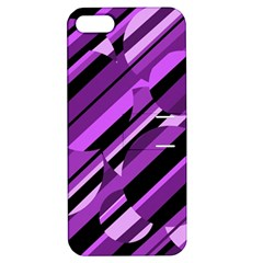 Purple Pattern Apple Iphone 5 Hardshell Case With Stand by Valentinaart