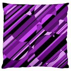 Purple Pattern Standard Flano Cushion Case (one Side) by Valentinaart