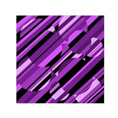 Purple Pattern Small Satin Scarf (square) by Valentinaart