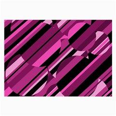 Magenta Pattern Large Glasses Cloth by Valentinaart