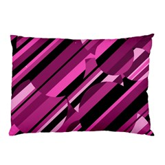 Magenta Pattern Pillow Case (two Sides) by Valentinaart