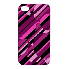 Magenta Pattern Apple Iphone 4/4s Hardshell Case by Valentinaart