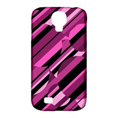 Magenta Pattern Samsung Galaxy S4 Classic Hardshell Case (pc+silicone) by Valentinaart