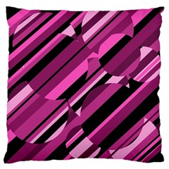 Magenta Pattern Standard Flano Cushion Case (one Side) by Valentinaart