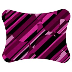 Magenta Pattern Jigsaw Puzzle Photo Stand (bow) by Valentinaart