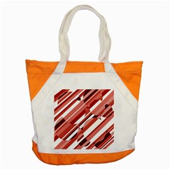 Orange Pattern Accent Tote Bag by Valentinaart