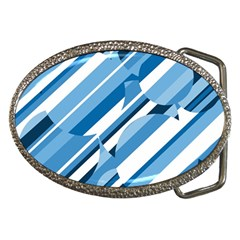 Blue Pattern Belt Buckles by Valentinaart