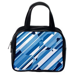 Blue Pattern Classic Handbags (one Side) by Valentinaart