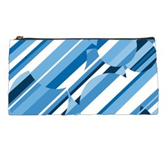 Blue Pattern Pencil Cases by Valentinaart