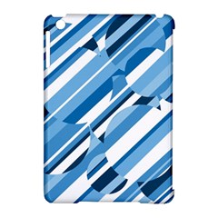Blue Pattern Apple Ipad Mini Hardshell Case (compatible With Smart Cover) by Valentinaart