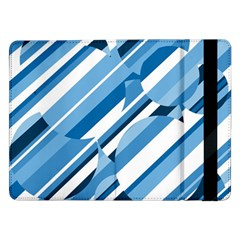 Blue Pattern Samsung Galaxy Tab Pro 12 2  Flip Case by Valentinaart