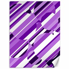 Purple Pattern Canvas 36  X 48   by Valentinaart
