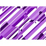 Purple pattern Ribbon 3D Greeting Card (7x5)  Front
