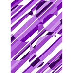 Purple pattern Ribbon 3D Greeting Card (7x5)  Inside
