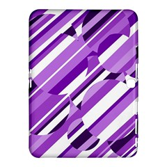 Purple Pattern Samsung Galaxy Tab 4 (10 1 ) Hardshell Case  by Valentinaart