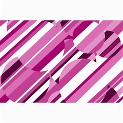 Magenta Pattern Collage Prints by Valentinaart